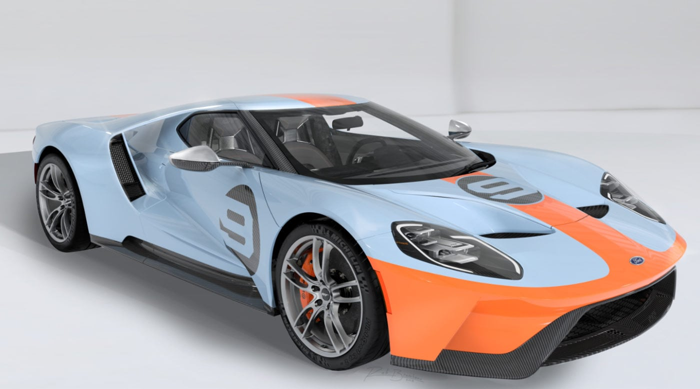 2019 Ford Gt Gets Heritage Gulf Livery